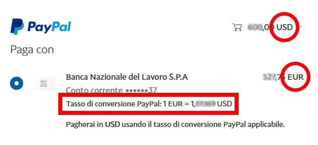 Conversione PayPal
